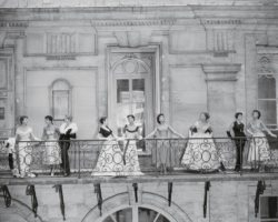 Versailles, vue de balcon,