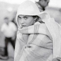 Jean Seberg lors du tournage de Bonjour Tristesse